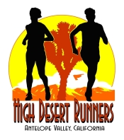 running in California's High Desert poppy fields